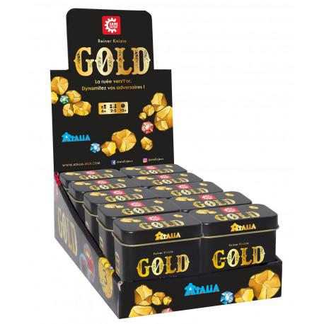 Boîte du jeu de société Gold (présentoir de 12 unités)