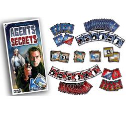 La boite du jeu de société Agents secrets avec le matériel