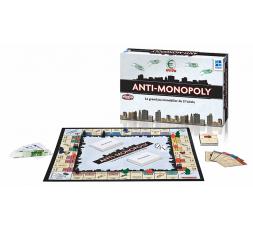 La boîte du jeu de société Anti Monopoly avec matériel