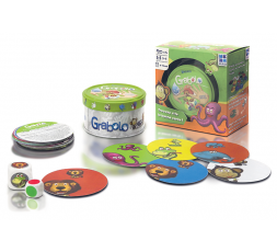La boîte du jeu de société Grabolo avec le matériel
