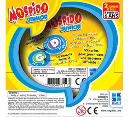 Le dos de la boîte du jeu de société Mospido Junior