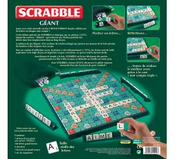Le dos de la boîte du jeu de société Scrabble Géant