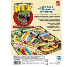 Le dos de la boîte du jeu de société Tyrannosaure Rex