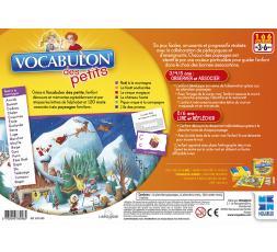 Le dos de la boîte du jeu de société Vocabulon des Petits