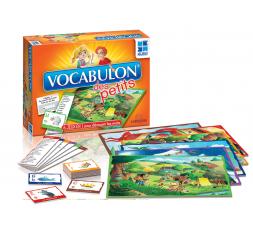 La boîte et le matériel du jeu de société Vocabulon des Petits