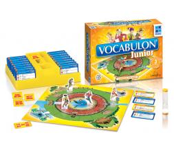 La boîte et le matériel du jeu de société Vocabulon Junior