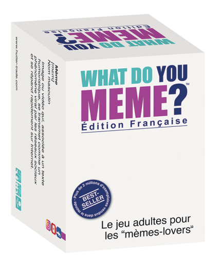 La boîte du jeu de société What Do You Meme ?