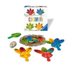 La boite du jeu de société Cocorito avec le matériel