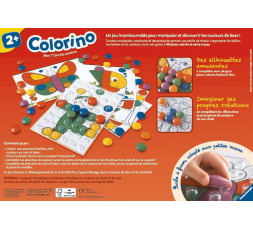 Le dos de la boite du jeu de société Colorino