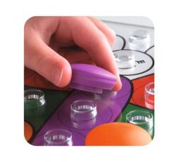 Un détail du matériel du jeu Colorino
