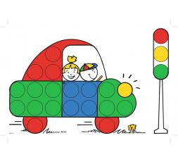 Un modèle : la voiture en couleur de Colorino