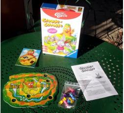 La boite et le matériel du jeu Croque Carotte Version coup de cœur