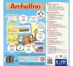 Le dos de la boite du jeu de société Archelino