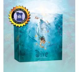 La boite du jeu de société Dive avec le prix Seal of Excellence