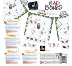 Le dos de la boite du jeu de société Bad Bones