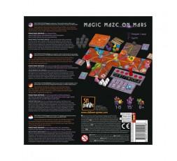 Le dos de la boite du jeu de société Magic Maze on Mars