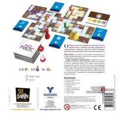 Le dos de la boite du jeu de société Magic Maze