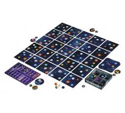 Le matériel du jeu de société Space Bowl