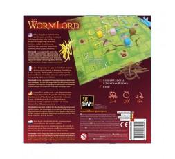 Le dos de la boite du jeu de société Wormlord
