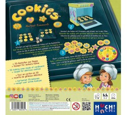 Le dos de la boite du jeu de société Cookies