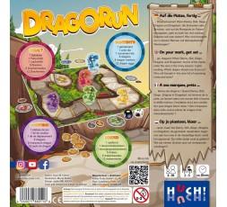 Le dos de la boite du jeu de société Dragorun