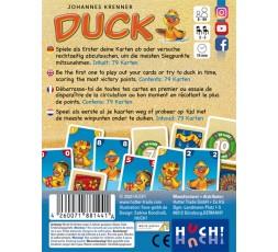 Le dos de la boite du jeu de société Duck