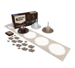 La boite du jeu de société Espresso Doppio avec le matériel