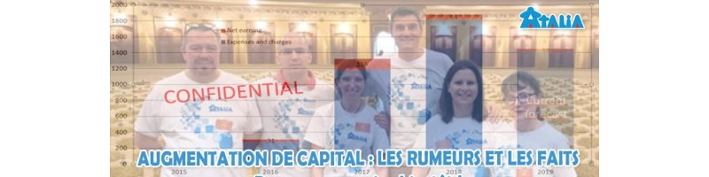 ATALIA PROCÈDE À UNE AUGMENTATION DE CAPITAL